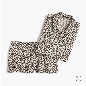 J. Crew Leopard-print pajama set NWT size L